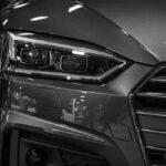 Close-up view of dark gray Audi A5 Sportback