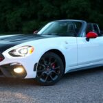 Black and white 2019 Fiat Spider sports car