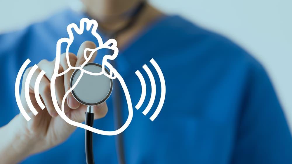 Medical checkup of irregular heartbeat concept.
